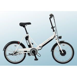 SANYO(サンヨー) 電動ハイブリッド自転車 エネループ CY-SPJ220-W 20インチ ホワイト 【折り畳み自転車】 - 拡大画像