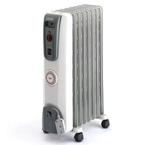DeLonghi(デロンギ) オイルラジエターヒーター(3〜8畳 ホワイト+ミディアムグレー) 【暖房器具】 De'Longhi オイルヒーター H770812EFS - 拡大画像