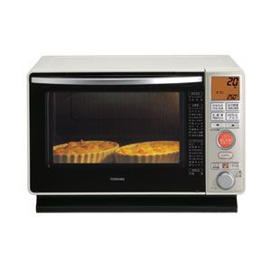 TOSHIBA(東芝) スチームオーブンレンジ 21L アイボリーホワイト 石窯オーブン ER-J6-W - 拡大画像