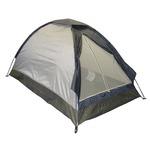 2人用ドーム型テント(ブルーシートつき)グレー