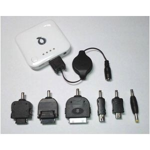 【最新版!】 Q-Power ポータブル充電池 ★ iPhone iPod ドコモXPERIA/GALAXY PSPにも対応可能! (ホワイト)