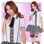 コスプレ パニエ内蔵スカートのスクールコスプレ・学生服【セーラー服】