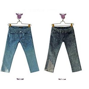 ファッション人気パンツ★ブルー/Lサイズ