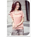 【大きいサイズ レディース】ファッション人気カットソー半袖★ピンク