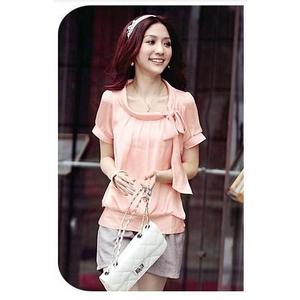 ファッション人気カットソー半袖★ピンク