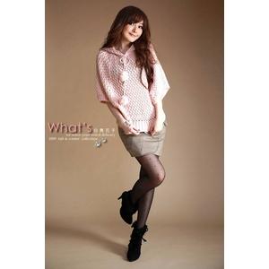 大きなボンボン付き人気セーター★ピンク