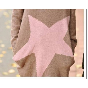 大きな星が可愛い人気ミニワンピ★ブラウン