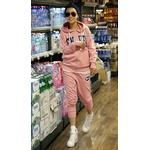 【大きいサイズ レディース】ファッション人気ルーズスポーツウェア★ピンク
