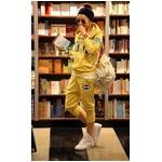 【大きいサイズ レディース】ファッション人気ルーズスポーツウェア★イエロー