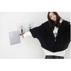 ファッション人気モコモコパーカー★ブラック