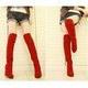 選べる4色♪ニーハイブーツ レッド 【36】 写真3