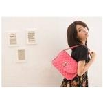 ファッション人気ショルダーバッグ○ピンク色