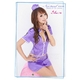 コスプレ セクシーミニスカポリスコスチューム3点セット 帽子付  紫色 フリーサイズ - 縮小画像2