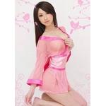 超セクシー☆シースルー着物セット ピンク コスプレ コスチューム