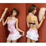 ひらひらスカートチャイナドレス ピンク コスプレ