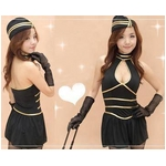 胸元セクシー☆スチュワーデスコスプレ3点セット