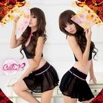 SEXY☆ブラックシースルーチャイナドレス コスプレ