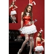 2010年新作クリスマス☆サンタバニーガール4点セット・赤 コスプレ - 縮小画像1