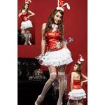 2010年新作クリスマス☆サンタバニーガール4点セット・赤 コスプレ
