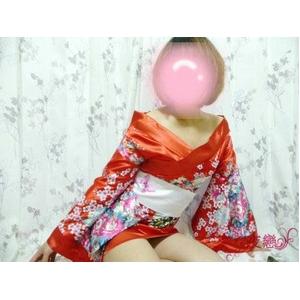 超豪華着物風ドレス コスプレ♪花柄ワンピース&帯3点SET☆コスプレ wf3r - 拡大画像