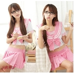 可愛いスクール系高校女子制服♪Tパック付3点セット☆コスプレ skr12