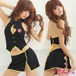 2010新作 胸元セクシーミニスカウエイトレスコスチュームセット☆コスプレ z447
