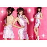 コスプレ ピンクのマイクロミニチャイナドレス*コスプレ/ランジェリー