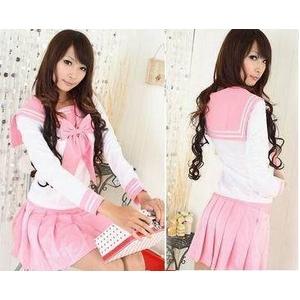 コスプレ 学生服*大きいリボンの学生服/長袖 6059