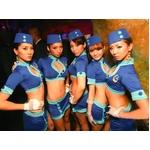 コスプレ 婦警*グローブ付ブルーのセーラーコスプレ 5328