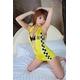 コスプレ 【レースクイーン】 黄色のセクシー女子制服コスプレ 写真1