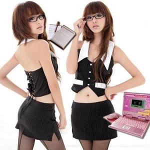 コスプレ 【学生服】背中編上げ秘書さんのコスプレ制服 6055 - 拡大画像