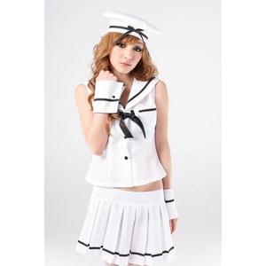 コスプレ コスプレ*帽子付5点セットの制服*せーラー服 婦警 - 拡大画像