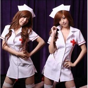コスプレ 白の看護婦のナースコスプレ*コスチューム 5111 - 拡大画像
