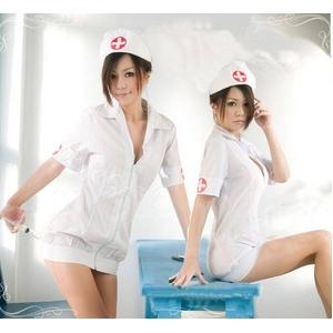 コスプレ 白の看護婦のナースコスプレ*コスチューム 5115 - 拡大画像