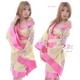 コスプレ 3色★豪華な花柄着物コスプレ/浴衣 黄色 - 縮小画像1