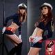 コスプレ 6点セット★帽子付セーラー制服/コスチューム婦警 青色 5302