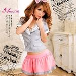 コスプレ セクシーミニスカ女子高生セーラー服コスチューム3点セット コスプレ 【2010新作】