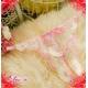 コスプレ ランジェリー4点セット(トップス・ガーターベルト・ストッキング・Tバック)【花柄刺繍シースルー】 白 写真4