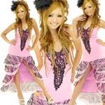 ロングドレス 【オーガンジー&レースティアード】 ピンク