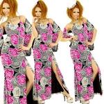 ロングドレス 2ピース 【デコROSE・バックスピンドル・スカーフ付き】 チェリーピンク