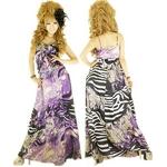 キャバ ドレス オリエンタルペイズリー柄サテンラインストーンバストインフィニティーロングドレス パープル