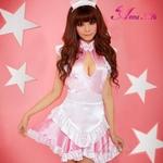 コスプレ 2011年新作 ピンクの可愛いメイドさん3点セット コスチューム