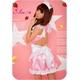 コスプレ 2011年新作 ピンクの可愛いメイドさん3点セット コスチューム - 縮小画像3