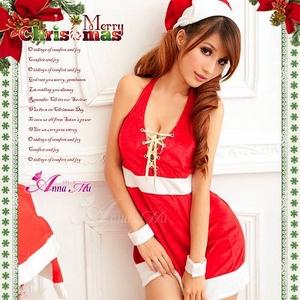 コスプレ 2011年新作 クリスマス☆サンタクロースコスプレセット s008 /コスチューム/ - 拡大画像