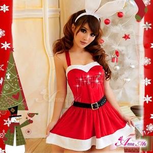 コスプレ 2011年新作 クリスマス☆サンタクロースコスプレセット s007 /コスチューム/ - 拡大画像