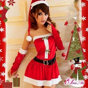 コスプレ 2011年新作 クリスマス☆サンタクロースコスプレセット s005 /コスチューム/ - 拡大画像