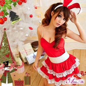 コスプレ 2011年新作 クリスマス☆サンタクロースコスプレセット s006 /コスチューム/ - 拡大画像