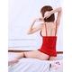 ランジェリー 赤×黒リボンベビードール&Tバック/コスプレ/コスチューム/ f203 - 縮小画像2