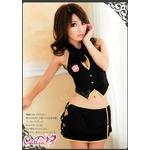 コスプレ 2011年新作 胸元セクシーミニ制服コスチュームセット/コスプレ/ z447-1
