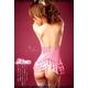 コスプレ ランジェリー ピンクサテンのセクシーランジェリー4点セット - 縮小画像4